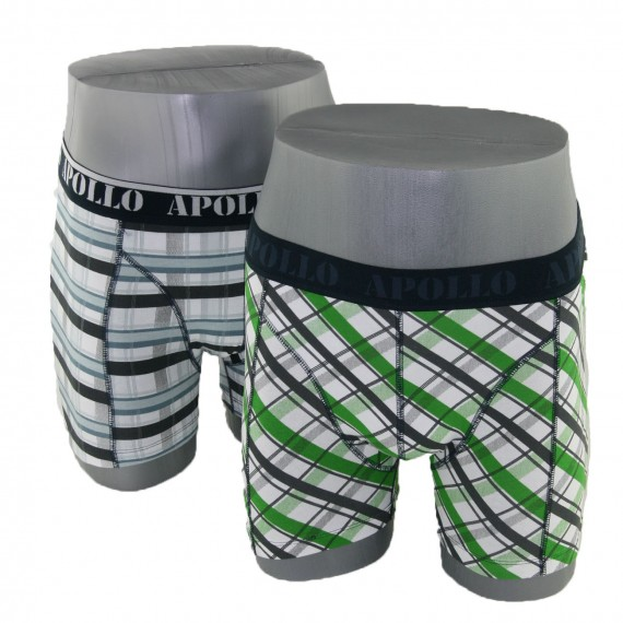 Apollo boxer streepjes & ruitjes (2-pack)