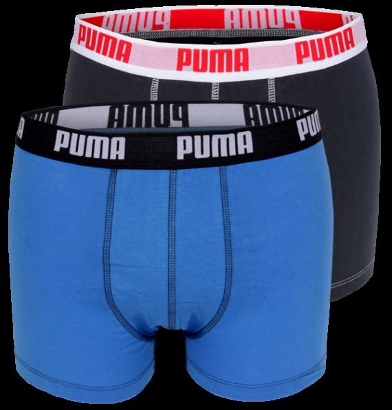 PUMA boxers Blauw / Antraciet (2 pack)