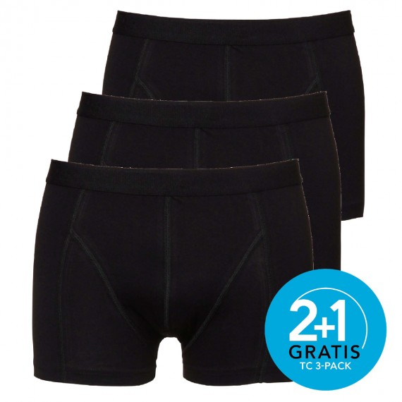 Ten Cate boxers Shorty 3-pack (zwart)