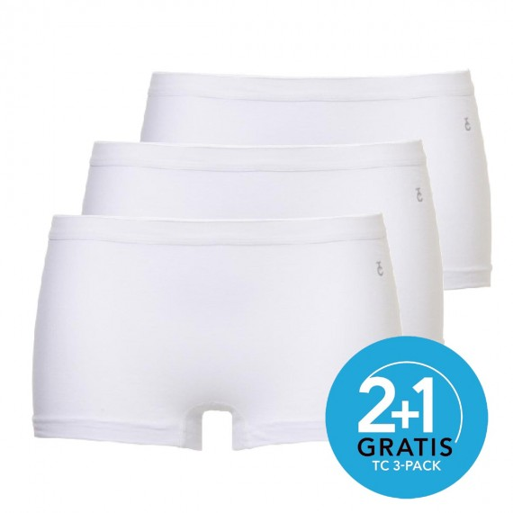 Ten Cate dames boxers 3-pack (wit)