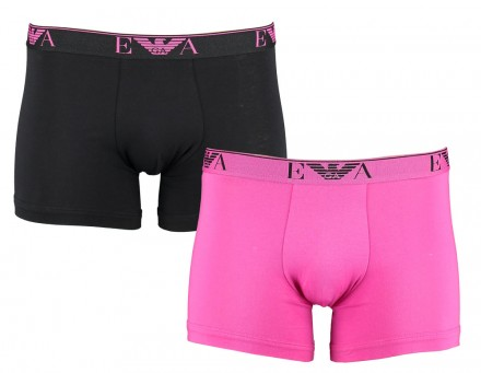 Armani heren boxer 2-pack (Roze/zwart)