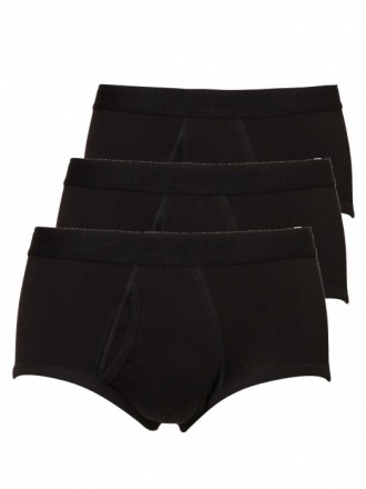 Heren classic brief/slip 3-pack - zwart