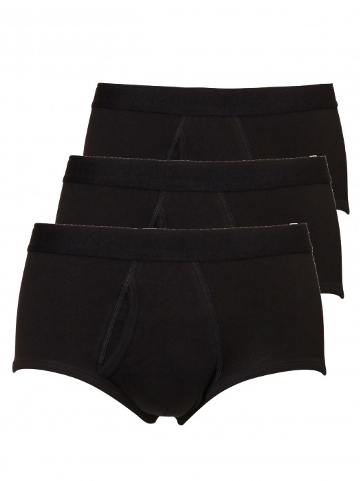 Heren classic brief/slip 3-pack – zwart
