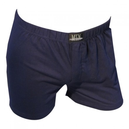 Plain boxer wide - marine