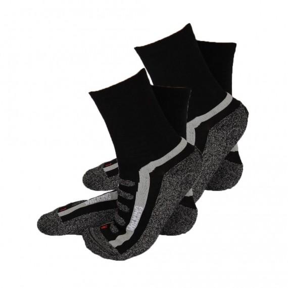 Apollo Walking sokken 2 pack (zwart)