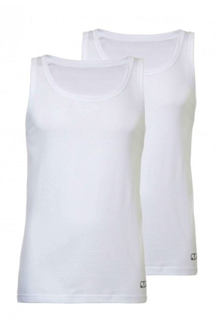 Heren singlet 2-pack - wit