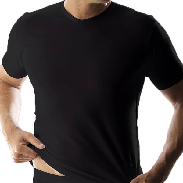 0209b685ef6 RJ Mannen V-hals shirt (zwart)