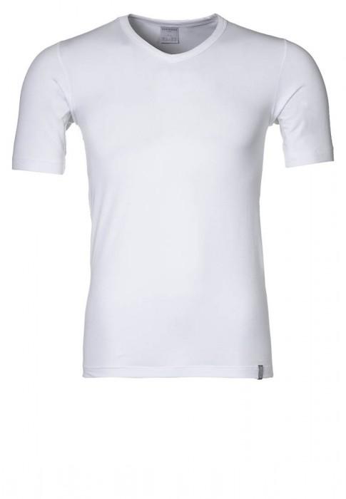 Schiesser Heren T-Shirt 95/5 V-Hals (wit)