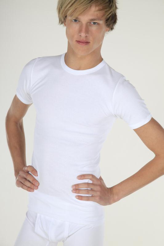 T-Shirt met ronde hals (wit)