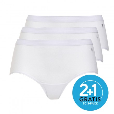 Ten Cate dames midi slips 3-pack (wit)