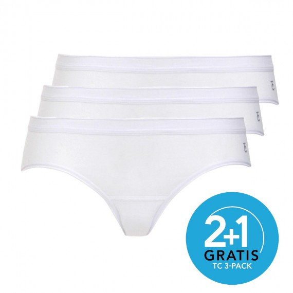 Ten Cate dames slips Bikini 3-pack (wit)