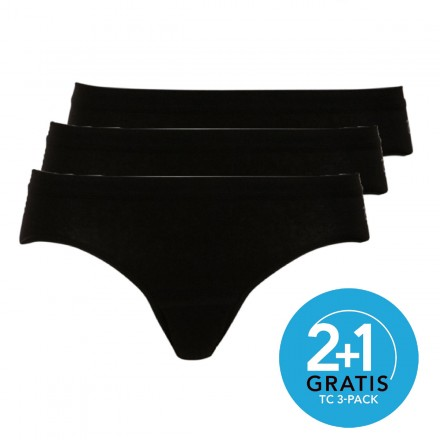 Ten Cate dames slips Bikini 3-pack (zwart)