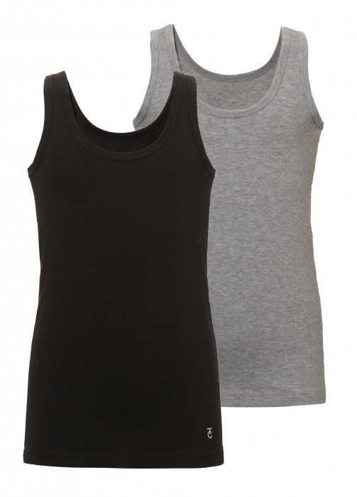jongens shirt/hemd 2-pack - zwart