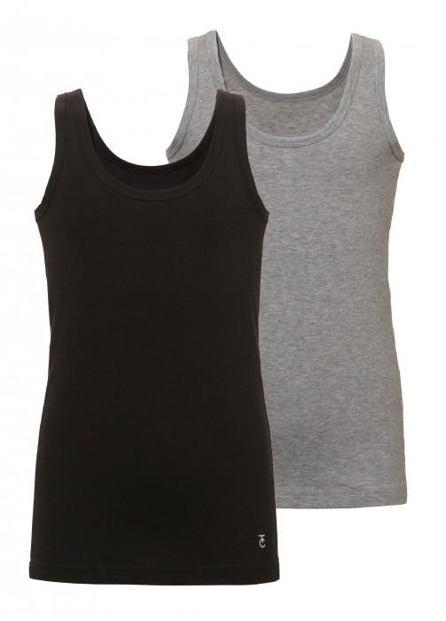 jongens shirt/hemd 2-pack – zwart