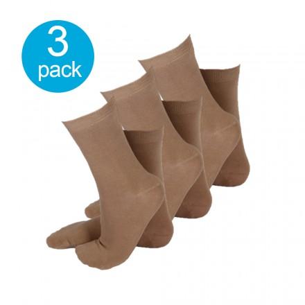 Apollo dames sokken beige 3-pack