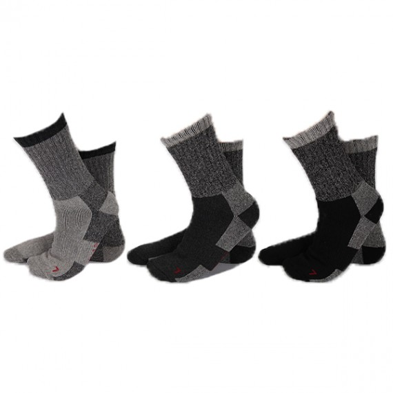 Apollo thermo sokken 3-pack grijs