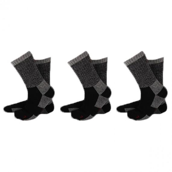 Apollo thermo sokken 3-pack zwart