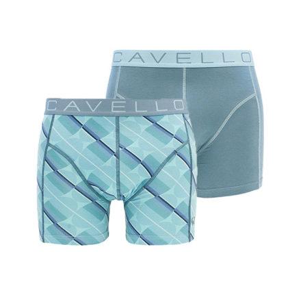 Cavello 2-pack boxershorts blauw-grijs