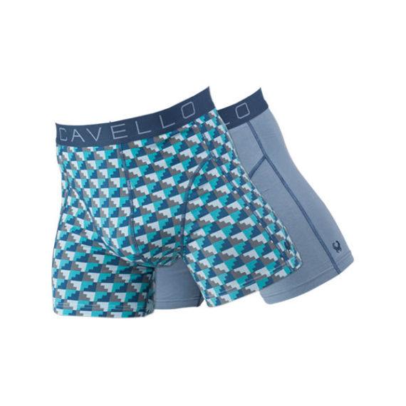 Cavello boxershorts 2-pack grijs-groen