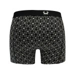 Cavello boxershorts 2-pack zwart-wit achterkant
