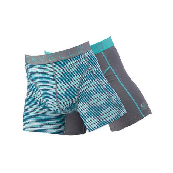 Cavello heren boxershorts 2-pack CMB15009 groen-grijs