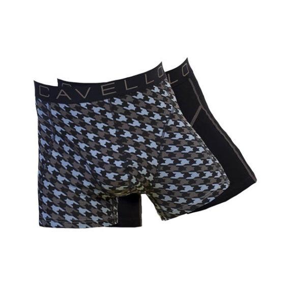 Cavello heren boxershorts 2-pack CMB16003 zwart-blauw