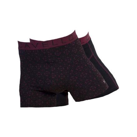 Cavello heren boxershorts 2-pack CMB16004 zwart-bordo