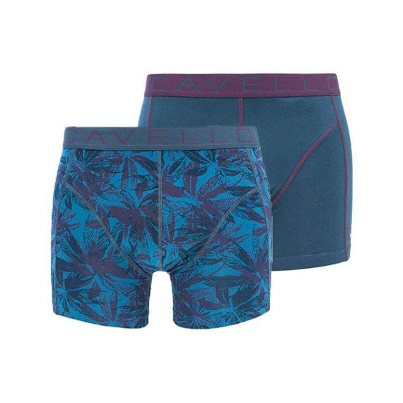 Cavello heren boxershorts 2-pack blauw-paars