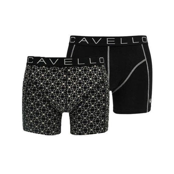 Cavello heren boxershorts zwart-wit 2-pack