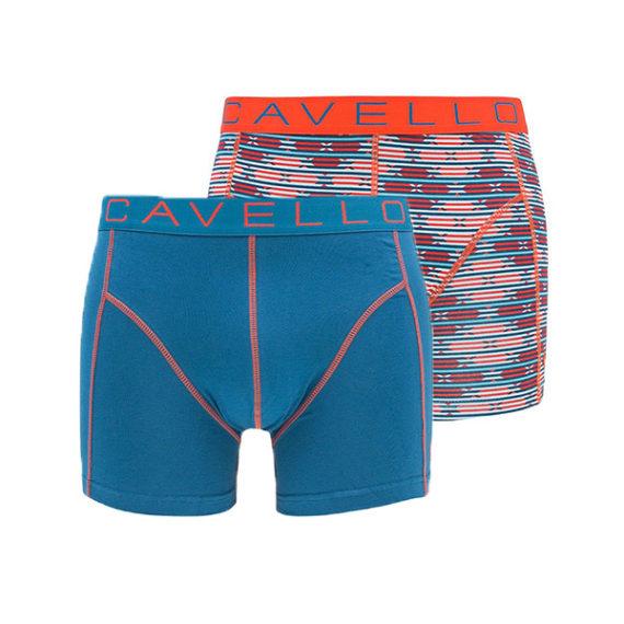 cavello boxershorts 2-pack oranje-blauw