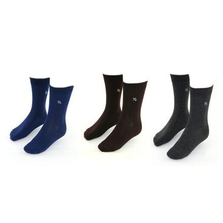 Yves-Dorsey-sokken-3-pack-effen-Antra-Zwart-Kobalt