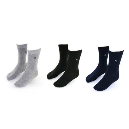 Yves-Dorsey-sokken-3-pack-effen-Grijs-Marine-Zwart