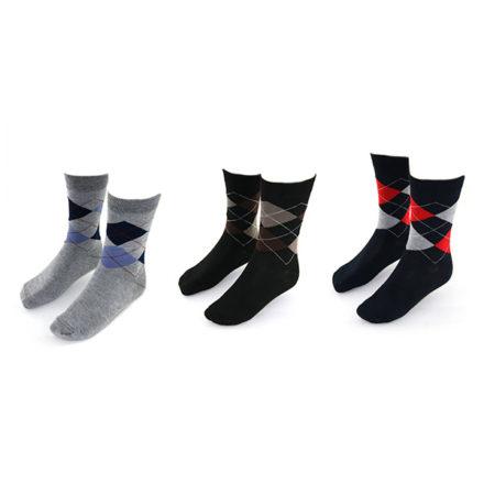 Yves-Dorsey-sokken-3-pack-kleur-ruit-zwart-grijs-marine
